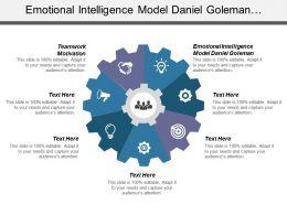 Emotional Intelligence Model Daniel Goleman Teamwork Motivation Good Teamwork Cpb