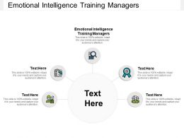 Emotional Intelligence Training Managers Ppt Powerpoint Presentation Aids Cpb