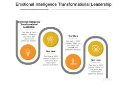Emotional Intelligence Transformational Leadership Ppt Powerpoint Presentation Icon Cpb