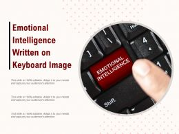 Emotional Intelligence Written On Keyboard Image