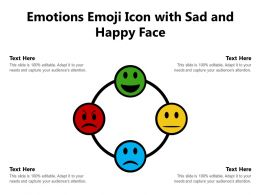 Emotions Emoji Icon With Sad And Happy Face