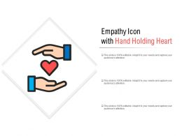Empathy Icon With Hand Holding Heart