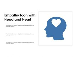 Empathy Icon With Head And Heart