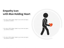 Empathy Icon With Man Holding Heart
