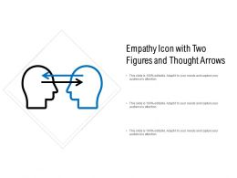 Empathy Icon With Two Figures And Thought Arrows