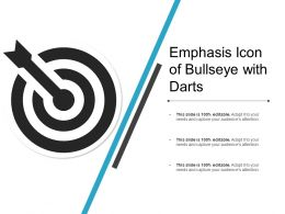 Emphasis Icon Of Bullseye With Darts