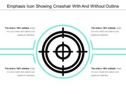 Emphasis Icon Showing Crosshair With And Without Outline