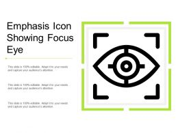 Emphasis Icon Showing Focus Eye