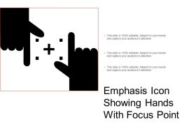 Emphasis Icon Showing Hands With Focus Point