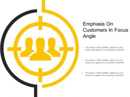 Emphasis On Customers In Focus Angle