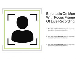 Emphasis On Man With Focus Frame Of Live Recording