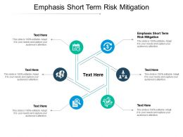 Emphasis Short Term Risk Mitigation Ppt Powerpoint Presentation Layouts Examples Cpb