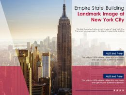 Empire State Building Landmark Image At New York City Powerpoint Template