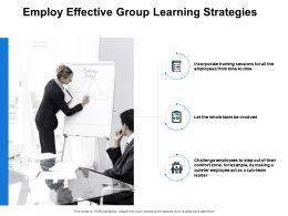 Employ Effective Group Learning Strategies Checklist Powerpoint Presentation Slides