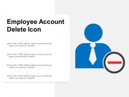 Employee Account Delete Icon