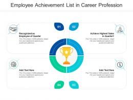 Employee Achievement List In Career Profession
