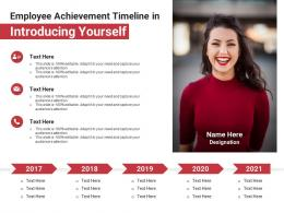 Employee Achievement Timeline In Introducing Yourself Infographic Template