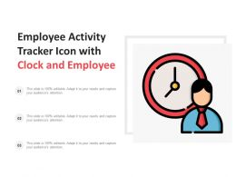 Employee Activity Tracker Icon With Clock And Employee