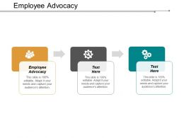 Employee Advocacy Ppt Powerpoint Presentation Infographics Pictures Cpb