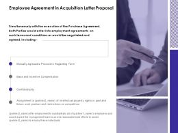 Employee Agreement In Acquisition Letter Proposal Confidentiality Ppt Slides