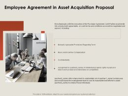 Employee Agreement In Asset Acquisition Proposal Ppt Powerpoint Presentation Inspiration