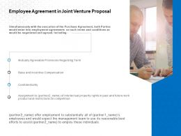 Employee Agreement In Joint Venture Proposal Ppt Powerpoint Ideas