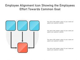 Employee Alignment Icon Showing The Employees Effort Towards Common Goal