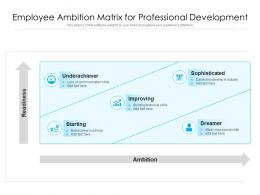 Employee Ambition Matrix For Professional Development