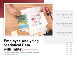 Employee Analysing Statistical Data With Tablet