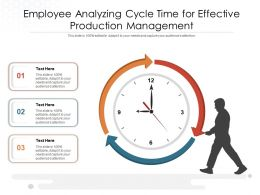 Employee Analyzing Cycle Time For Effective Production Management
