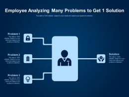 Employee Analyzing Many Problems To Get 1 Solution