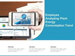 Employee Analyzing Plant Energy Consumption Trend