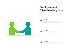 Employee And Client Meeting Icon