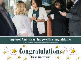 Employee Anniversary Image With A Congratulation
