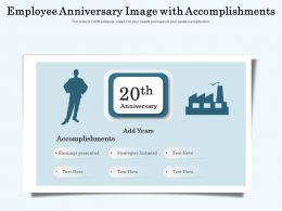 Employee Anniversary Image With Accomplishments