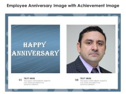 Employee Anniversary Image With Achievement Image