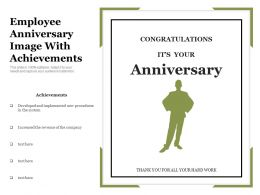 Employee Anniversary Image With Achievements