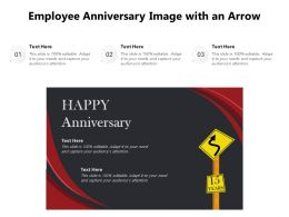 Employee Anniversary Image With An Arrow