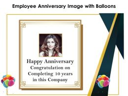 Employee Anniversary Image With Balloons