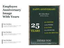 Employee Anniversary Image With Years