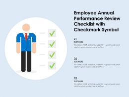 Employee Annual Performance Review Checklist With Checkmark Symbol