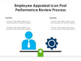 Employee Appraisal Icon Post Performance Review Process