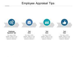 Employee Appraisal Tips Ppt Powerpoint Presentation Portfolio Portrait Cpb
