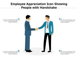 Employee Appreciation Icon Showing People With Handshake