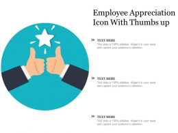 Employee Appreciation Icon With Thumbs Up