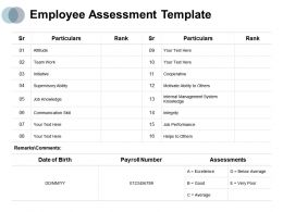 Employee Assessment Attitude Team Work Ppt Powerpoint Presentation Themes