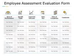 Employee Assessment Evaluation Form Dashword Opposition Ppt Powerpoint Presentation Master Slide