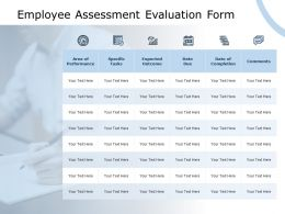 Employee Assessment Evaluation Form Expected Outcome Checklist Ppt Powerpoint Presentation Styles Skills