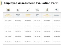 Employee Assessment Evaluation Form Expected Outcome Ppt Powerpoint Presentation