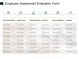 Employee Assessment Evaluation Form Ppt Powerpoint Presentation Ideas